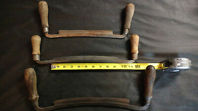 3 Antique Draw Knife Tools 8 9 10 inch Blades Vintage
