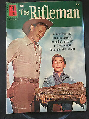 The Rifleman #10 Dell comic 1962 tv western photo cover