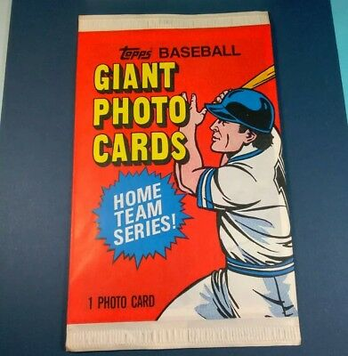 Lot of 3 FACTORY SEALED PACKS Vintage 1981 Topps Baseball Giant Photo Cards