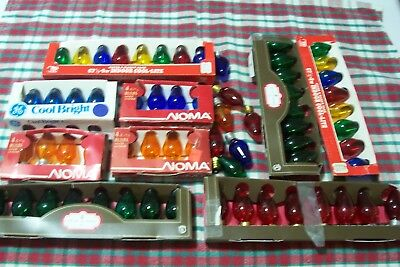 Lot of C 7 1/2 Christmas Bulbs Colored Clear