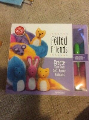 Klutz Book Felted Friends Felting craft kit NEW make your own fuzzy animals
