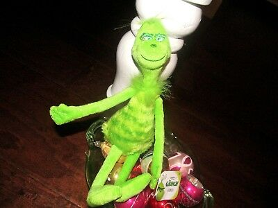 NWT Boutique Dr. Seuss The Grinch Beanie Stuffed Toy Approx. 11 Inches CHRISTMAS