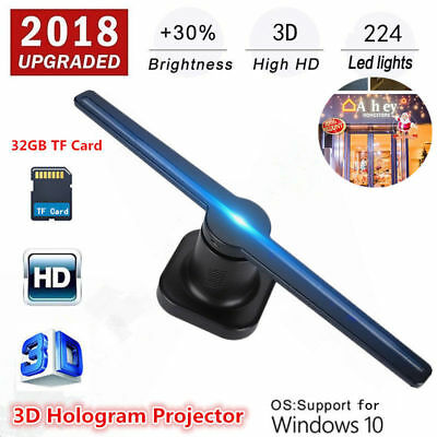 LED 3D HOLOGRAM Projector Fan Holographic Display Player Advertising