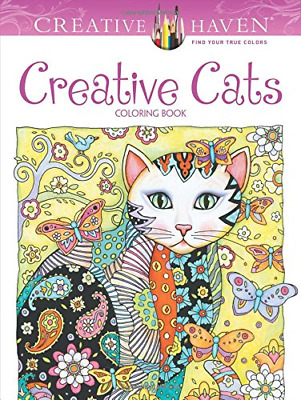 Creative Haven Creative Cats Coloring Book (Creative Haven Coloring Books), Very