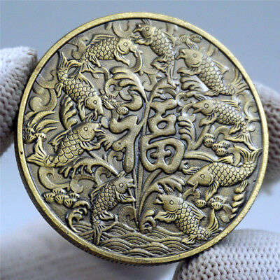 2019 NEW YEAR Chinese Feng Shui Happiness Luckly Fortune Wish coin Gfit