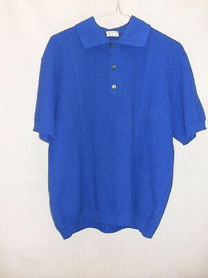 1950's/60's Vintage Short Sleeved Polo Style Knit Shirt.