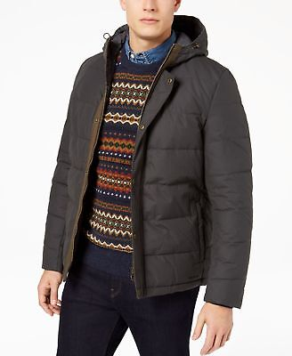 Barbour NEW Solid Gray Mens Size XL Puffer Wareford Front Zip Jacket $329 122