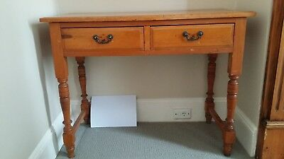 Antique Australian Kauri Pine Hall Table with Two Drawers c.1880