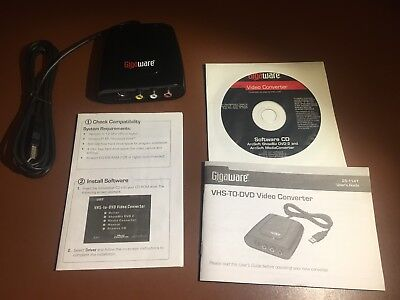 gigaware vhs to dvd converter driver for mac