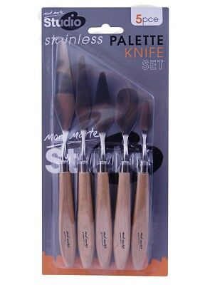 Mont Marte Studio Palette Knife Set 5pce - Stainless