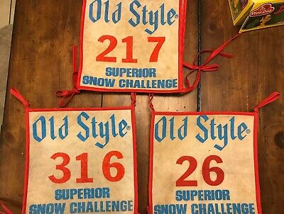 Vintage Old Style 217 Superior Wisconsin Snow Snowmobile Challenge Racing Bib