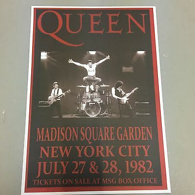 QUEEN - CONCERT POSTER M.S.G. NEW YORK CITY 27th & 28th JULY 1982 (A3 SIZE)