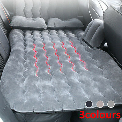 Car Inflatable Air Bed Mattress Back Rear Seat & 2 Pillows For Travel Camping UK