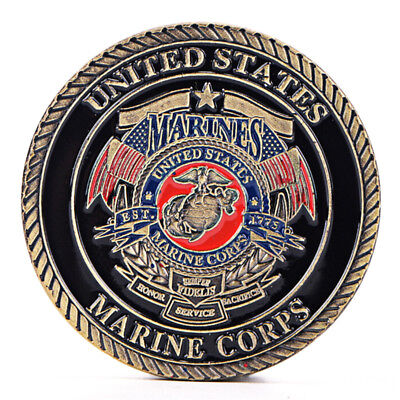 US Marine Corps Gold Plated Coin Collection Art Gift Commemorative Coins Gifts