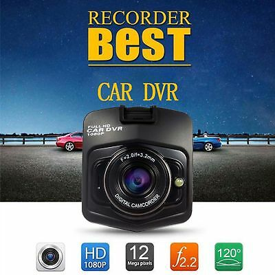 "Dash Cam 2.4"" LCD Car DVR Driving Recorder Camera Full HD 1080P Vehicle Video CH"