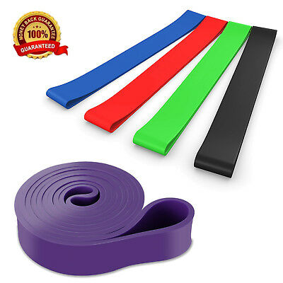 Rubber Loops Resistance Circle Latex Yoga Gym Strength Training Athletic lot