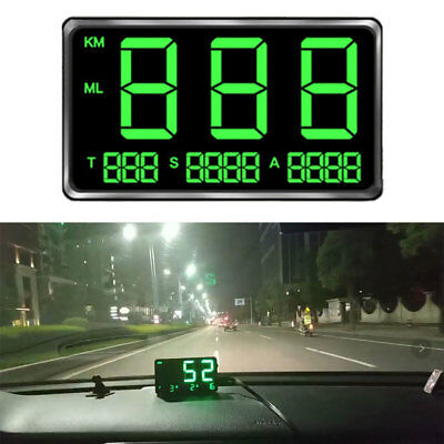HUD Digital HeadUp Display Universal GPS Truck Car Speedometer Speed Warn Drive