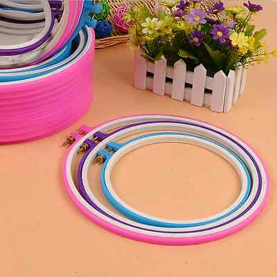 Practical Embroidery Hoop Circle Round Frame Art Craft DIY Cross Stitch  R