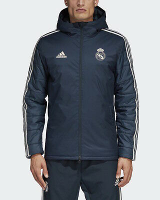 Real Madrid Adidas Bomber Duvet Jacke Blau Winter 2018 19