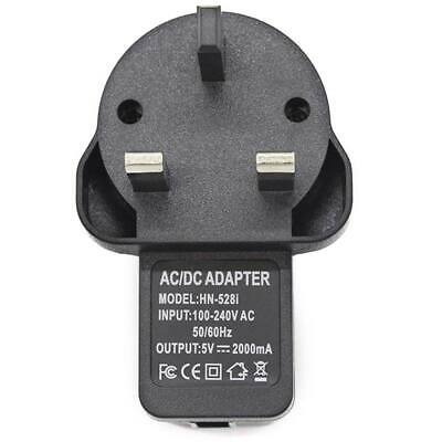 AC 100-240V to DC 5V 2A 10W USB Power Supply Adapter Travel Home Wall UK Charger