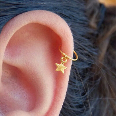 Fashion Star Cartilage Helix Earring Piercing Nose Ring Body Piercing Jewelry LD