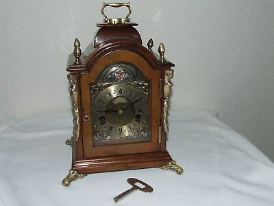 James Powell English 8 Day Bracket/Mantle/Clock Moon phase,Pendulum 2 Bells