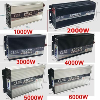 5000W/4000W/3000W/2000W Peak Pure Sine Wave Power Inverter DC12/24/48V to AC110V