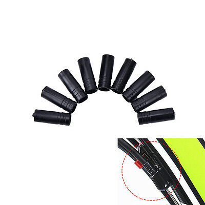 100X 4mm Bike Bicycle Cycling Brake Cable Crimps Housing Plastic End Tips Cap  R