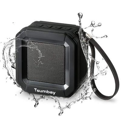 Tsumbay Stereo Bass Bluetooth Shower Speaker Hands-free Call Waterproof WIth Mic