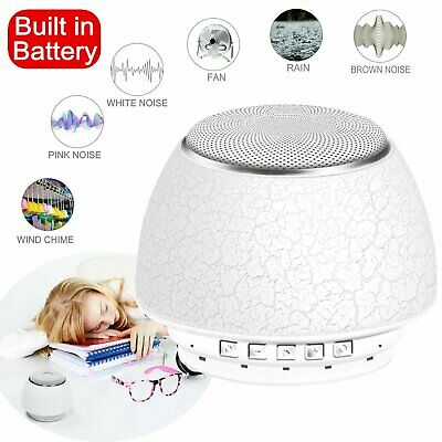 Relaxing Mini Sleep Sound Machine White Noise Nature Baby Therapy Rain Fan Wind