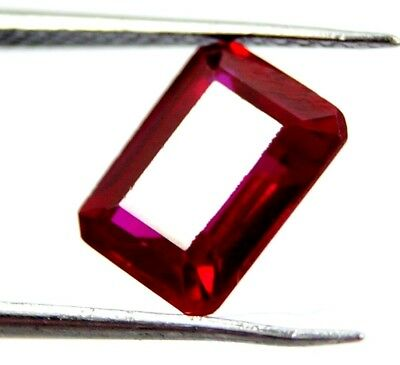 GGL Certified Natural Red Ruby 2.80 Ct Emerald Cut Mozambique Gem New Year Offer