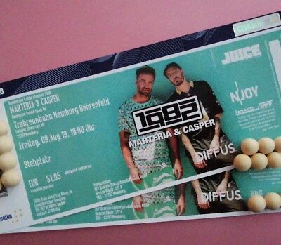 Marteria & Casper 2 Tickets Hamburg 09.08.19 Champion 1982