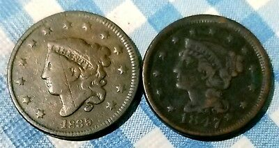 1835 And 1847 Large Cents