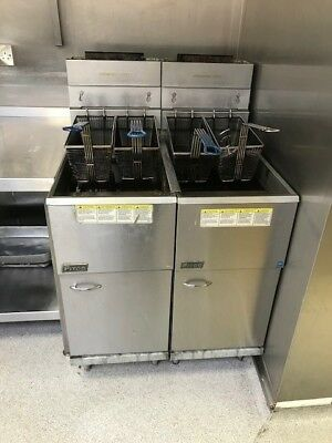 PITCO Twin Tank Commercial Fryer Twin Baskets 3 Burner Natural Gas
