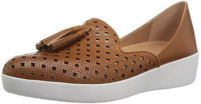 cce7532df8fd25 FITFLOP WOMENS TASSEL Superskate DOrsay Loafers-Latticed LeatherM ...