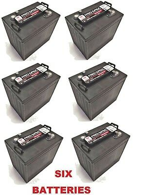 6 x YUASA PRO-SPEC DCB105-6 T105 - 6V 225Ah Deep Cycle Batteries BOAT/SOLAR/GOLF