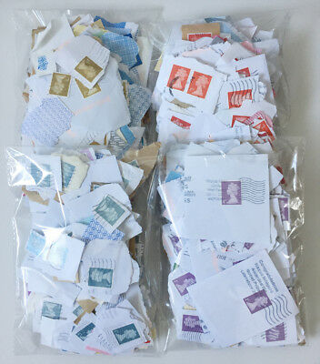 1000 Used Franked 1st Class Security GB Postage Stamps No Unfranked