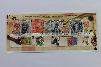 India 2010 Princely States stamps miniature sheet