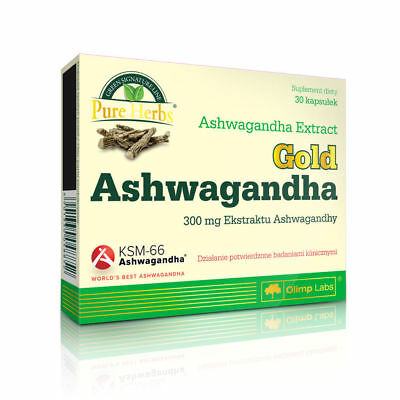Olimp Ashwagandha Premium 30c 300mg Stress Anxiety Fatigue Antioxidant Nervous