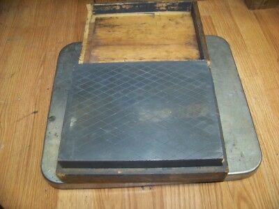 "Very Nice 10"" X 8 X 2-1/4 Machinist Lapping Plate Surface Plate Heavy Duty 48 Lb"