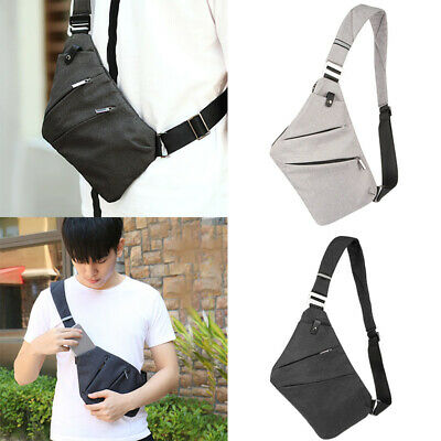 Men Crossbody Sling Bag Shoulder Chest Backpack Anti Theft Sash Bag Pouch