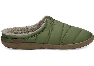 TOMS Mens Light Pine Green Quilted Berkeley Slippers Slip On UK 9 EU 43 US 10