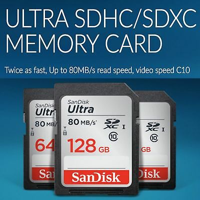 Genuine SanDisk 32GB Ultra SDHC SD Card Class 10 Memory Card 80MB/S For Camera