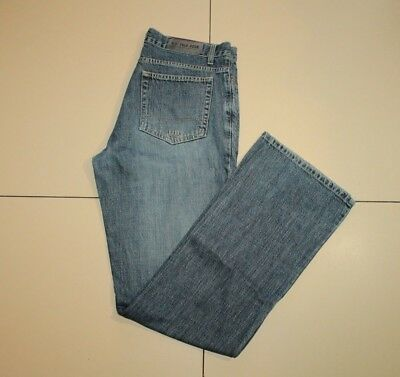 Blue Denim US.POLO ASSN Button Distressed Straight Leg Faded Jeans Size 33 L 34