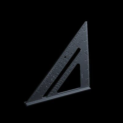 """7"""" Aluminium Roofing Rafter Speed Square Angle Measure Triangle Guide Tool"""