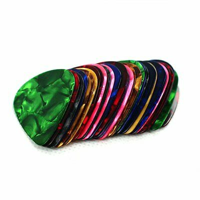 Celluloid Guitar Picks Plectrums Acoustic Electric Assorted Colours