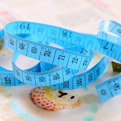 Body Measuring Ruler Sewing Cloth Tailor Tape Measure Soft Flat 60In 150Cm