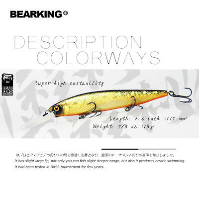 new 115mm 18g slowly floating Fishing Lures Artificial Bait  for pike and bass
