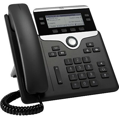 As New Cisco CP-7841-K9 VoIP IP Phone UC Gigabit Ethernet PoE Telephone Handset