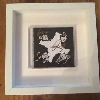 Kasabian hand signed CD with frame